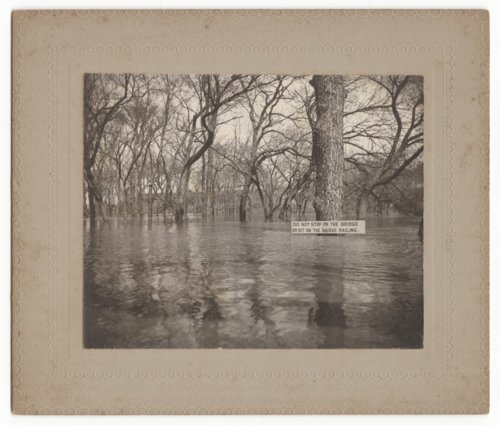 Foot bridge during Cottonwood River flood, Marion, Marion County, Kansas - Page
