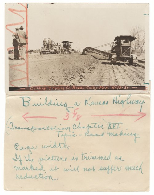 Road construction in Thomas County, Kansas - Page