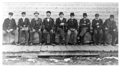 Group of elderly men, Colby, Thomas County, Kansas - Page
