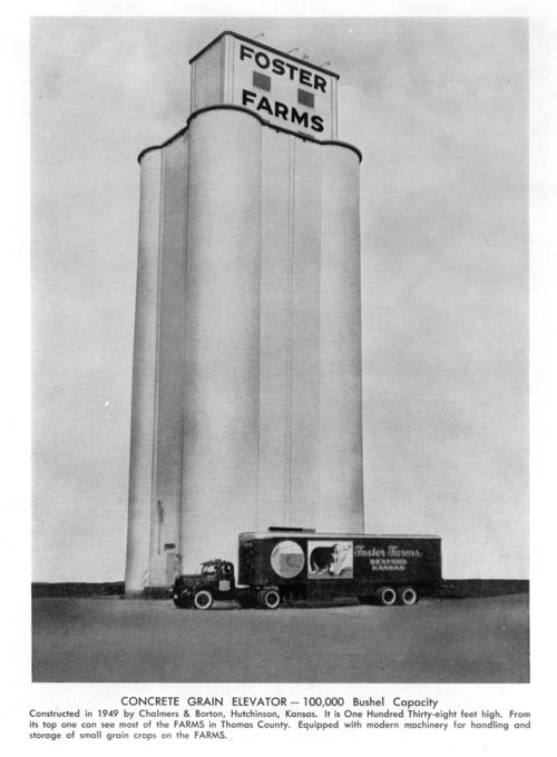 Concrete grain elevator on the Foster Farm, Rexford, Thomas County, Kansas - Page