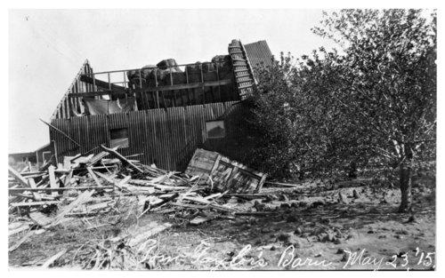 Damaged barn, Thomas County, Kansas - Page