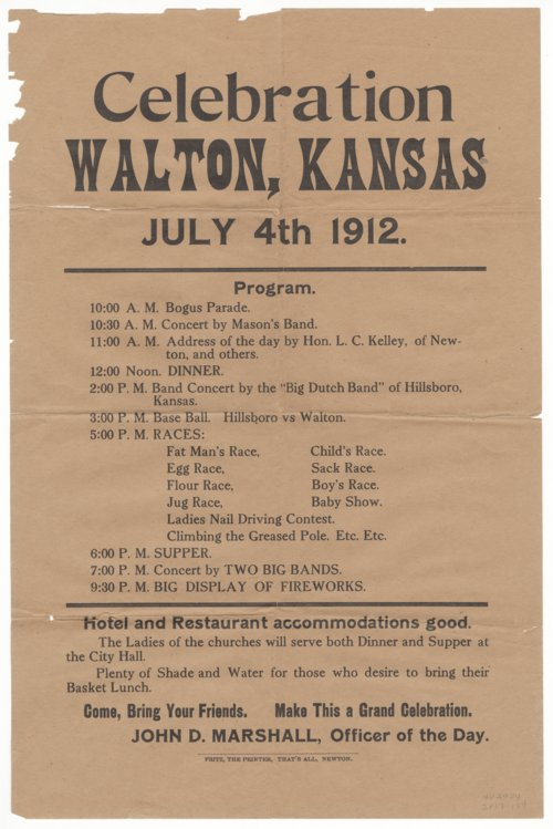 Independence Day celebration in Walton, Kansas - Page