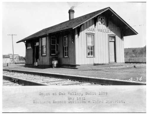 Atchison, Topeka & Santa Fe Railway Company depot, Oak Valley, Kansas - Page