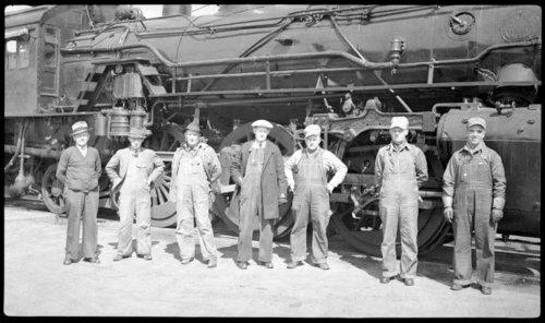 Atchison, Topeka & Santa Fe Railway Company's train crew, Burlingame, Kansas - Page