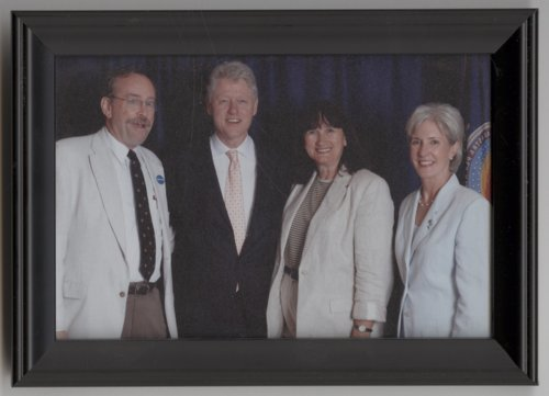 Dan Lykins, President William Clinton, Judy Lykins, and Governor Kathleen Sebelius - Page