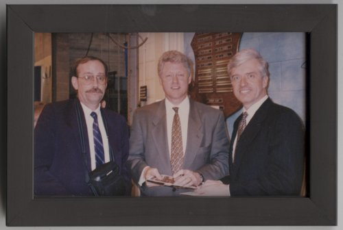Dan Lykins, President Clinton, and Congressman Jim Slattery - Page