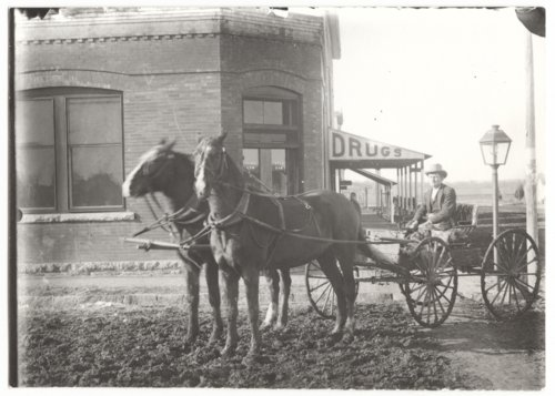 Horse-drawn wagon, Benedict, Wilson County, Kansas - Page