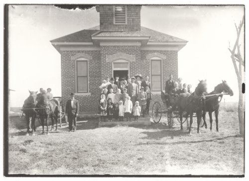 Sunday school class,  Baken Valley School, Wilson County, Kansas - Page