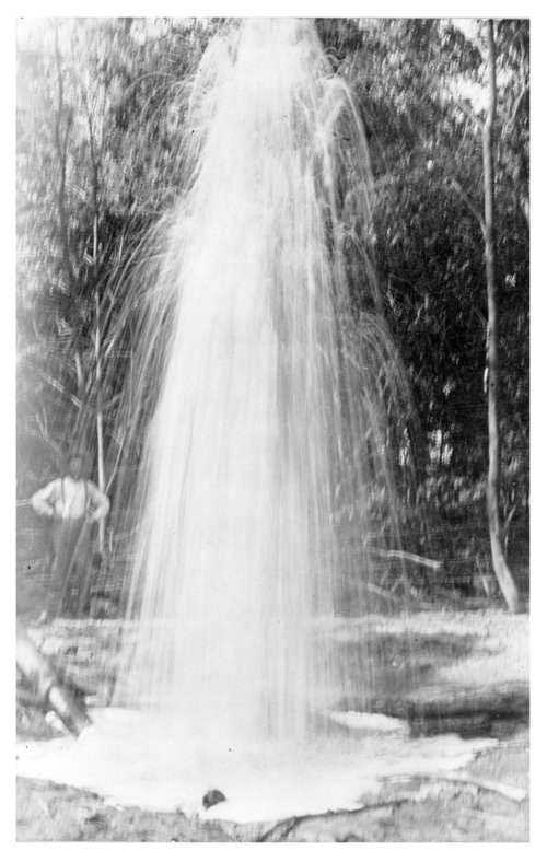Water shooting from a well in Wilson County, Kansas - Page
