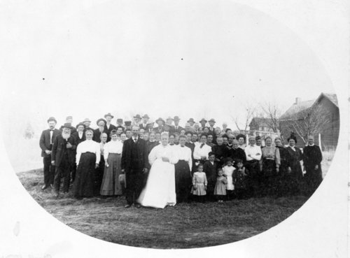 Family reunion near Benedict, Wilson County, Kansas - Page