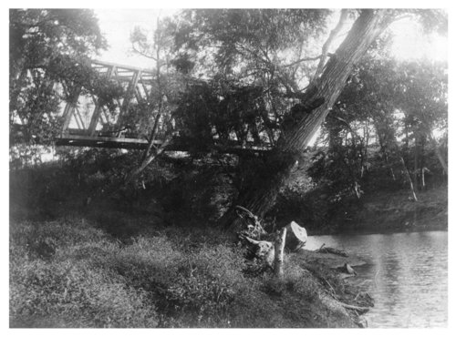 Frisco railroad bridge over the Verdigris River, Wilson County, Kansas - Page