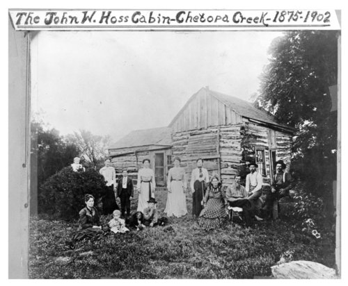 John W. Hoss log cabin, Chetopa Creek, Wilson County, Kansas - Page