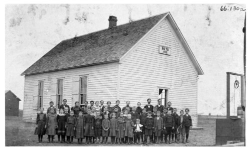 Class photo, Bell School, rural school no. 70, Wilson County, Kansas - Page