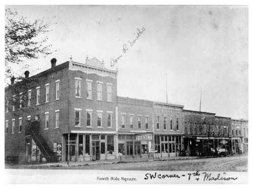 South side of the town square, Fredonia, Wilson County, Kansas - Page