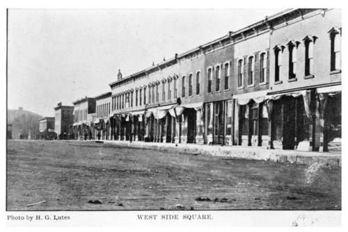 West side of town square, Fredonia, Wilson County, Kansas - Page