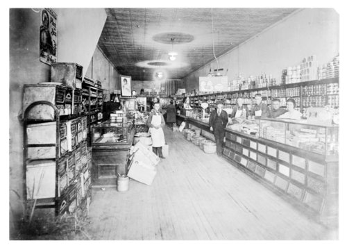 Interior of the Short and Beal grocery store, Fredonia, Wilson County, Kansas - Page