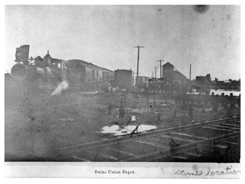 Steam locomotive, train, and depot ruins, Fredonia, Kansas - Page