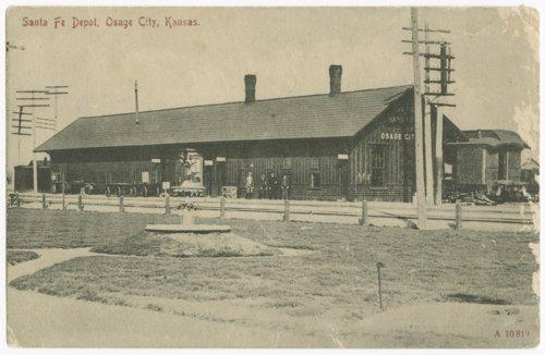 Atchison, Topeka & Santa Fe Railway Company depot, Osage City, Kansas - Page