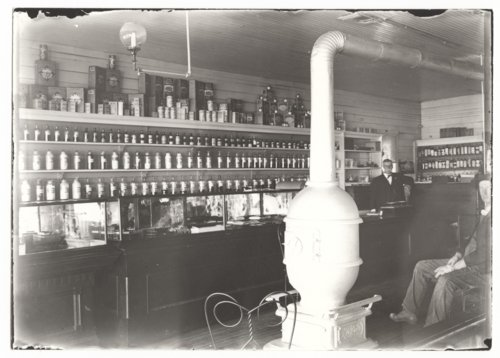 Hyler's drugstore interior, Benedict, Wilson County, Kansas - Page