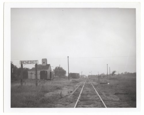 Atchison, Topeka & Santa Fe Railway Company's sign board, Benedict, Kansas - Page