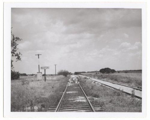 Atchison, Topeka & Santa Fe Railway Company's sign board, Buxton,Kansas - Page