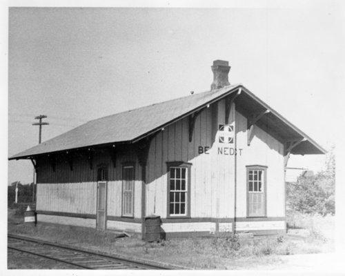 Atchison, Topeka & Santa Fe Railway Company depot, Benedict, Kansas - Page