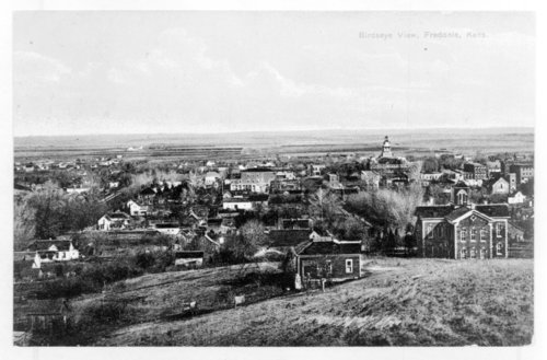 Two birds-eye views of Fredonia, Wilson County, Kansas - Page