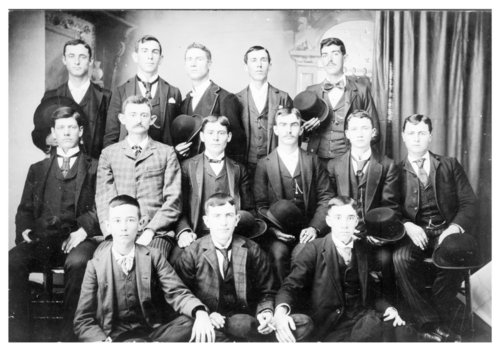 Studio portrait of the Gay Blades club, Neodesha, Wilson County, Kansas - Page