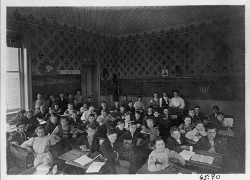 Third grade class at Mound School, Fredonia, Wilson County, Kansas - Page