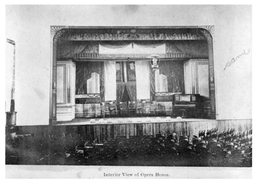 Interior of the opera house, Fredonia, Wilson County, Kansas - Page