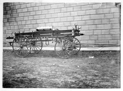 Fire hose wagon photograph - Page