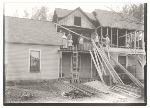 Ruggles house, Guilford, Wilson County, Kansas, under construction - Page