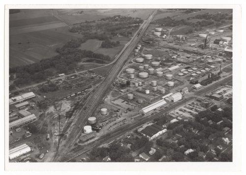Aerial views of railroad tracks, Neodesha, Wilson County, Kansas - Page
