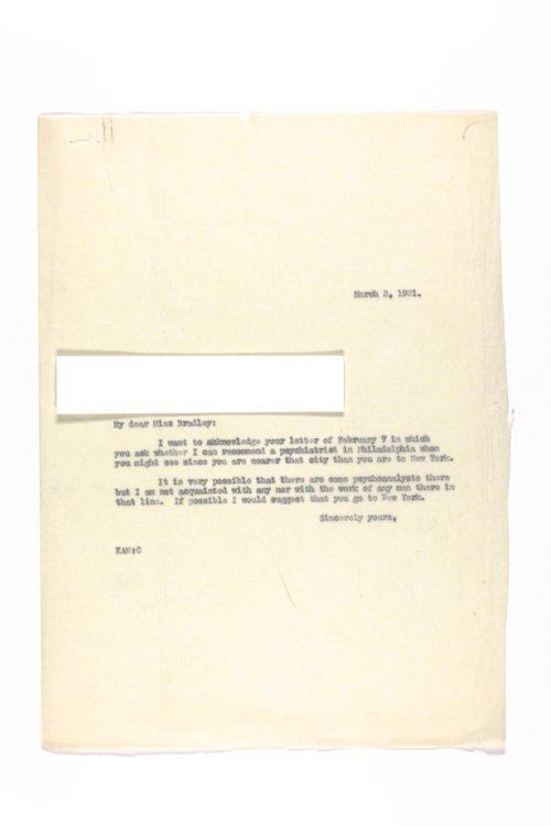Dr. Karl Menninger Ladies Home Journal Letters 80-98 - Page