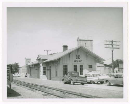 Atchison, Topeka and Santa Fe Railway Company depot, Moline, Kansas - Page