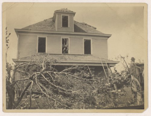 Julius A. Brosa farmstead after tornado, Valley Falls, Kansas - Page