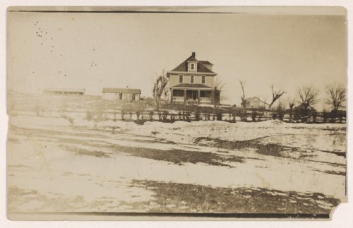 Julius A. Brosa farmstead home rebuilt after tornado damage, Valley Falls, Kansas - Page
