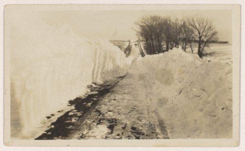 Snowdrift  near the Julius A. Brosa farmstead, Valley Falls, Kansas - Page