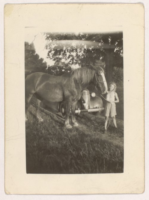 Meredith Ann Elliott Stippich and her Belgian horse, Beauty - Page