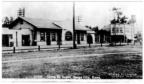 Atchison, Topeka and Santa Fe Railway Company depot, Osage City, Kansas - Page