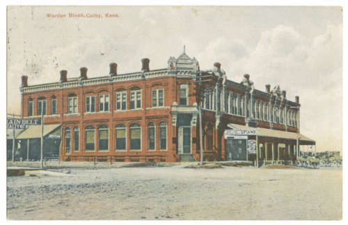 Postcard of the Warden Block in Colby, Thomas County, Kansas - Page