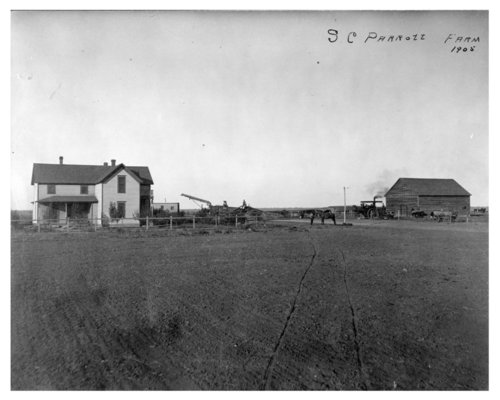 Front and rear views of the home and farmstead of S.C. Parrott, Thomas County, Kansas - Page