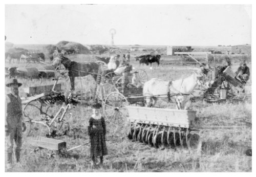 Farm equipment on the R.B. Snell farm, Thomas County, Kansas - Page