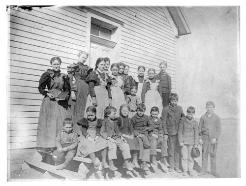 Students at an unidentified rural school in Thomas County, Kansas - Page