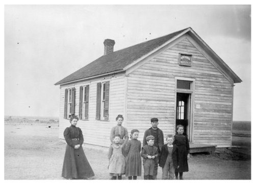 Students and teacher at the Abilene School, Thomas County, Kansas - Page