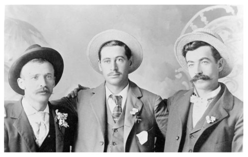 Three unidentified businessmen, Brewster, Thomas County, Kansas - Page