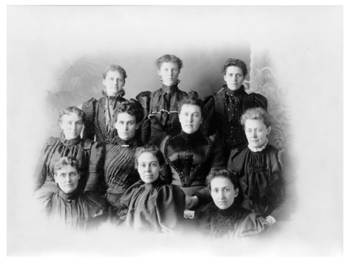 Group portrait of the Women's Society Leisure Hour Club, Colby, Thomas County, Kansas - Page