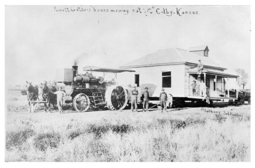 The Parrott Brothers move a house, Colby, Thomas County, Kansas - Page