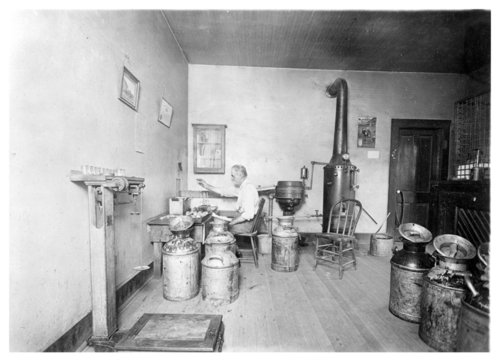 Interior view of a creamery in Colby, Thomas County, Kansas - Page