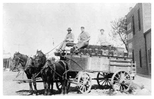 Soda pop factory delivery wagon, Colby, Thomas County, Kansas - Page